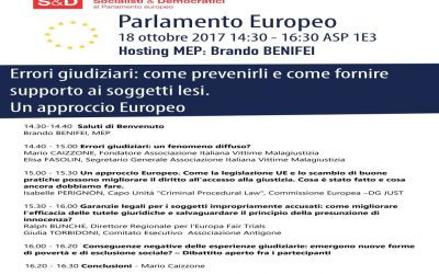 Parlamento Europeo – Bruxelles 18 ottobre 2017