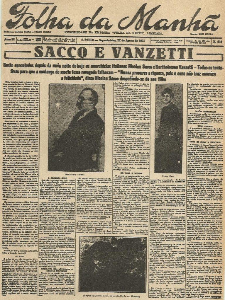 Sacco e Vanzetti testata giornalistica
