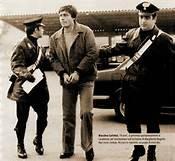 Massimo Carlotto durante l'arresto