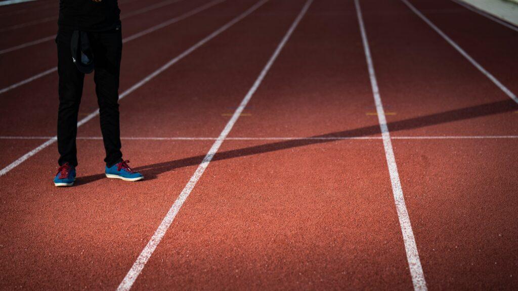 man on track of athletics